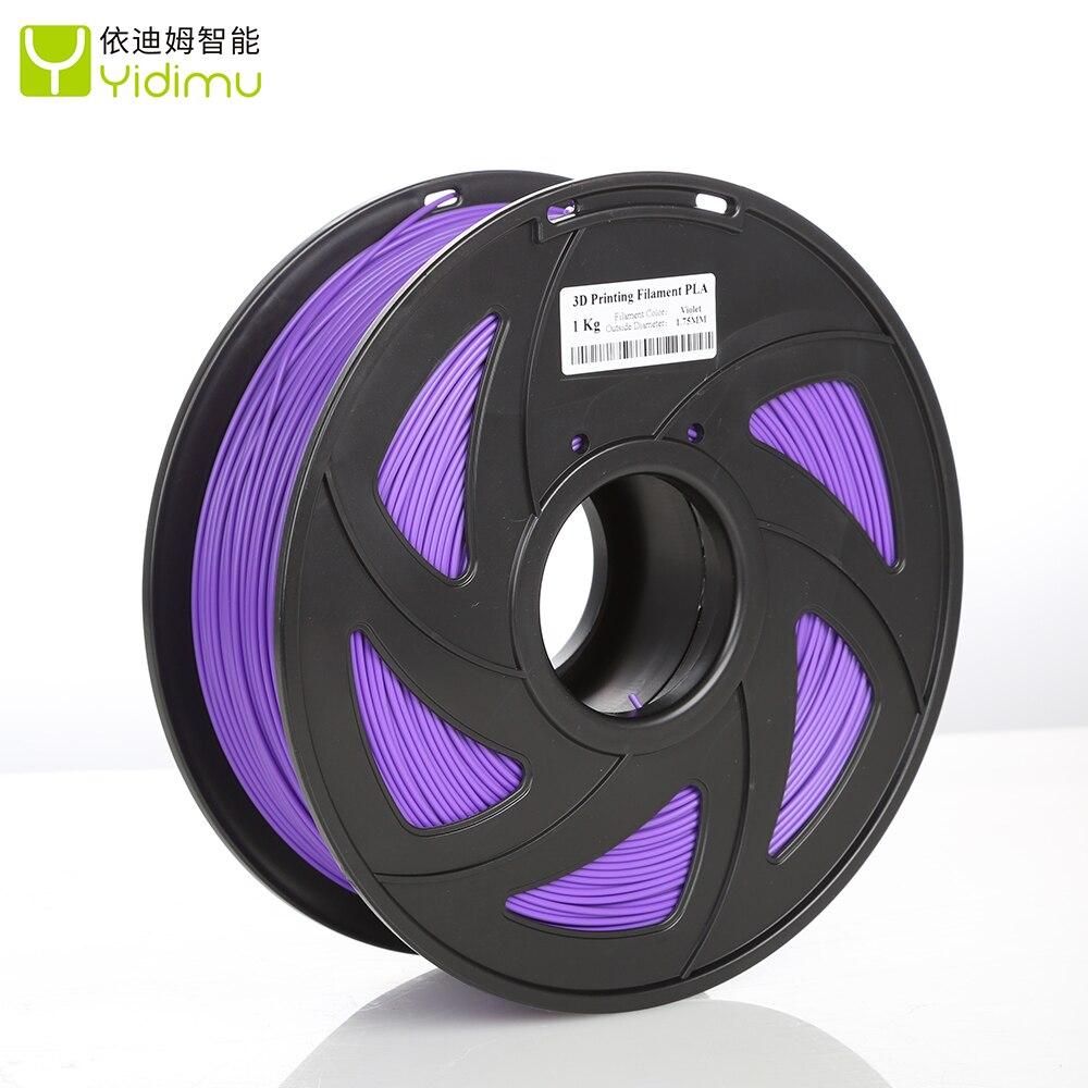 Filament 3D PLA 1.75 multi-couleurs 1kg bobines en plastique Filament 1.75 3D imprimante Filament Impressora 3D Filamento