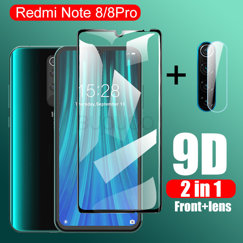 2 in 1 Camera Lens Tempered Glass For Redmi Note 9 9s 8 6 Pro Max 7 8T Screen Protector For Xiaomi Redmi 7 6 5 Plus Glass Film(China)