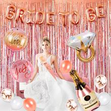 HUIRAN Bride To Be Party Decor Ballons Banner Accessories Wedding Weddings & Events Supplies Girl Favors Weding