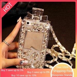 Image 1 - Luxo bling cristal diamante correia para iphone 11 pro max x xr xs max 6s 7 8 plus para samsung s8 s9 s20 s10 caso de telefone