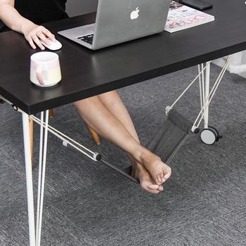 Set Voet Hangmat Creatieve Opknoping Bureau onder Rest Hangmat Verzachten Voet Vermoeidheid Pedaal op