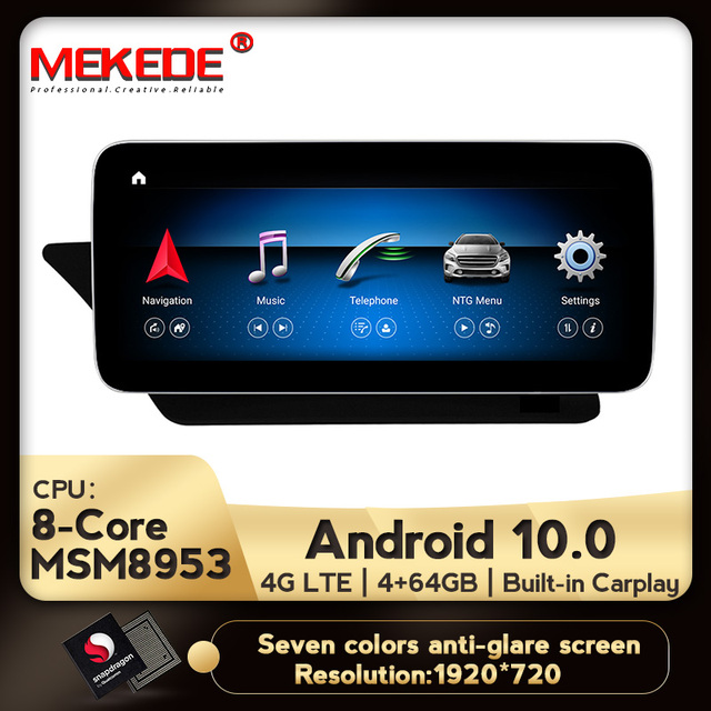 4G LTE Android 10 4+64G W207 A207 C207 GPS Merce des Display Car Multifunctional Navigator For Ben z E Class Coupe 10 12 Screen