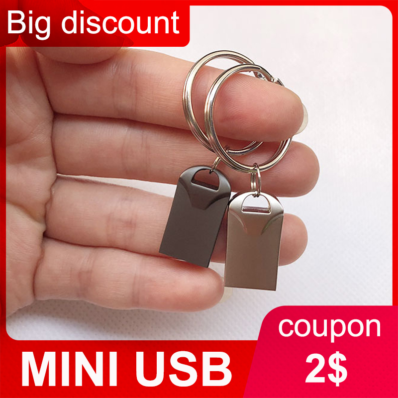 Gratis Verzending Mini Usb Flash Drive Pendrive 4 Gb 8 Gb 16 Gb 32 Gb 64 Gb 128 Gb Kleine pen Driver Usb Sleutelhanger Pen Drive Flash Usb Stick title=