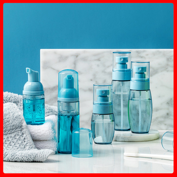 CR016 Thickening Spray Bottle Durable Cosmetics Travel Refillable Bottles Moisturizing Spray Lotion Foam Bottle Liquid Container 180ml alcohol and liquid container bottle blue