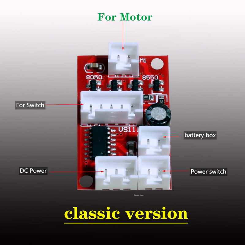 Dc 3v turntable motor controle mainboard assista