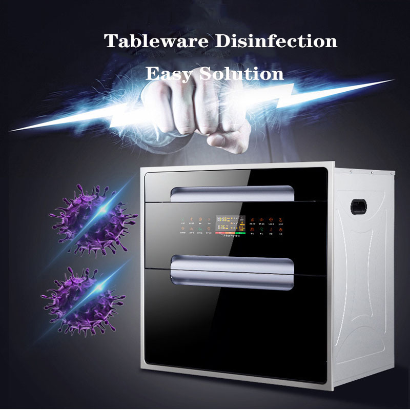 Large Capacity Disinfection Cabinet Embedded Household Three-layer Kitchen Ozone High Temperature Sterilizer Cupboard