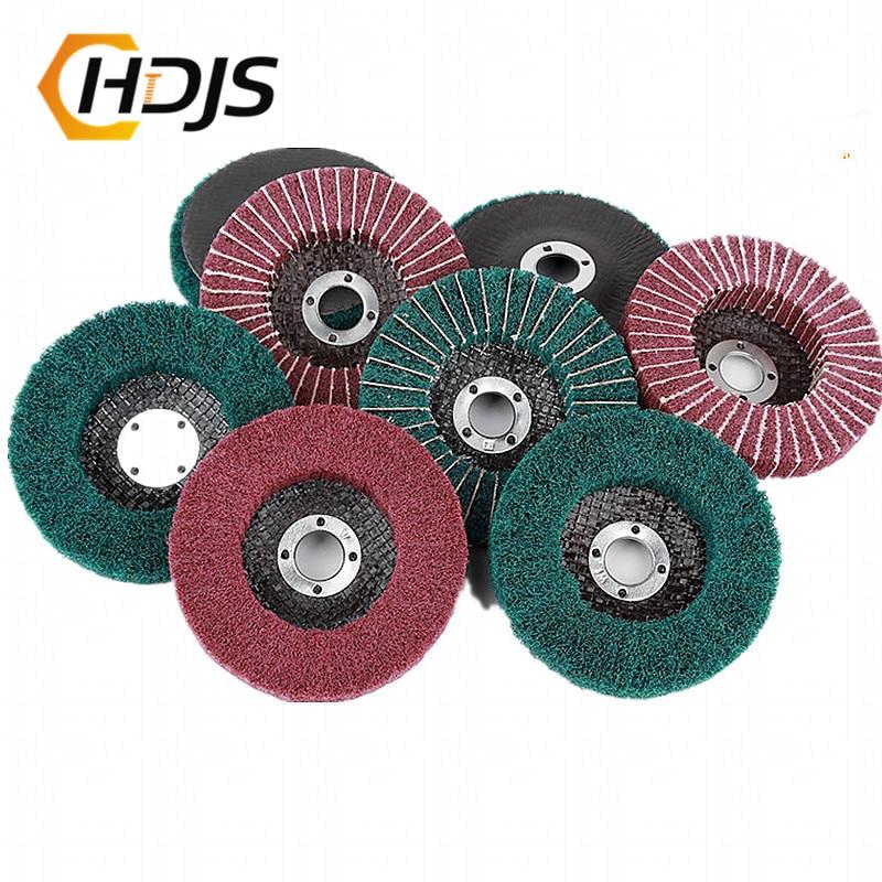 Nylon-fiber Flap Polishing Wheel Grinding Piece Non-woven Cloth 100*16mm Scouring Pad Grinding Wheel Angle Grinding Machine