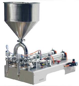 Double Head pneumatic cream /paste filling machine 50-500ml ytk 30 500ml single head liquid softdrink pneumatic filling machine