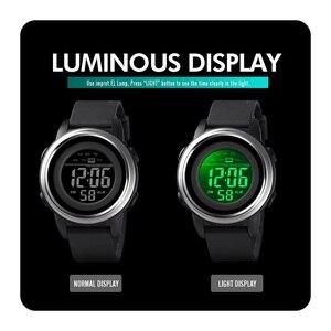 Image 5 - Skmei relógio digital à prova dled água led esporte militar dos homens relógios topo de luxo marca moda relógio de pulso masculino relogio masculino