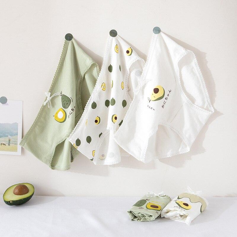 Lace Simple Women Cotton Underpants Seamless Briefs Bow Avocado Panties Underwear Mid Waist Lingerie Girls Cute Panty Thong