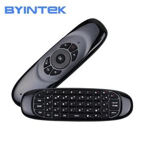 Image 1 - BYINTEK ratón inalámbrico air, teclado para juegos recargable, 2,4 GHz, mando a distancia inteligente Universal para Android, proyector y Pc