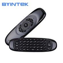 Беспроводная воздушная мышь BYINTEK, игровая клавиатура, перезаряжаемая, 2,4 ГГц, универсальный умный пульт дистанционного управления для Android, проектора, ПК