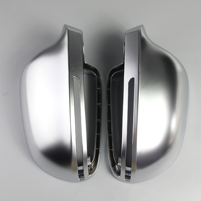 Car Mirror Cover For Audi B8 A3 A4 A5 A6 S4 RS4 S6 RS6 1 Pair of Matte Chrome Rearview Mirror Cover Protection Cap Car Styling