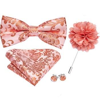 Men's Floral Brooch-Pin Bowtie-Sets