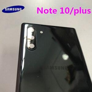 Image 3 - Arka Panel pil cam arka kapı kapak Samsung Galaxy not için 10 N970 NOTE10 artı N975 N975F ön yapışkan çıkartmalar + araçları