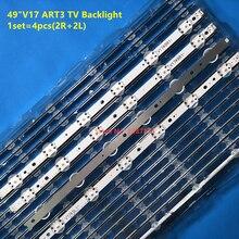 4 шт. светодиодный фонарь для телевизора LG 49 ''6916L-2862A 6916L-2863A V17 49 R1+ L1 ART3 49UJ670V-ZD 49UJ651V LC490DGG(FK)(MD