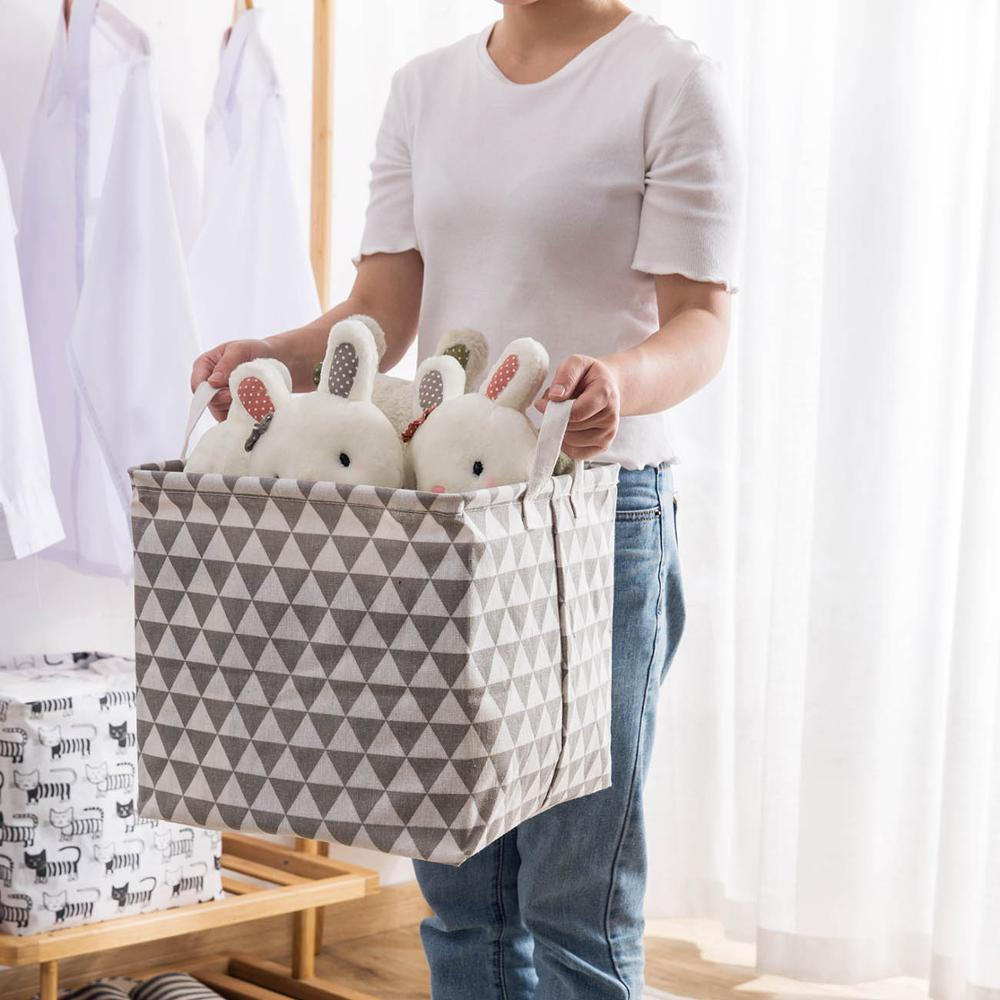 Portable Collapsible Laundry Basket Child Toy Storage Laundry Bag For Dirty Clothes Hamper Organizer Large Laundry Bucket