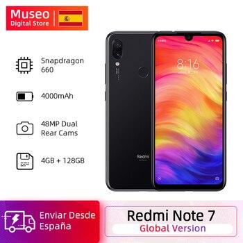 Перейти на Алиэкспресс и купить Глобальная версия Xiaomi Redmi Note 7 4 Гб 128 Гб Камера 48 МП Восьмиядерный процессор Snapdragon 660 6,3 дюйма FHD + мобильные телефоны QC4.0 4000 мАч