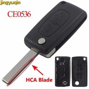 Jingyuqin Флип складной чехол для дистанционного ключа от машины оболочки CE0536 для peugeot 107 207 307 308 407 607 807 Citroen C2 C3 C4 C5 C6 C8
