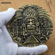 Mayan AZTEC CALENDAR souvenirs predict commemorative coins art collection gifts commemorative coins collections interesting