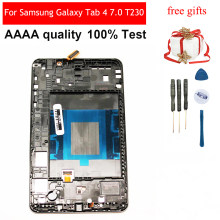 LCD For Samsung Galaxy Tab 4 7.0 T230 SM-T230 Touch Screen Sensor Digitizer Glass + LCD Display Panel With Frame Bezel(China)