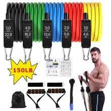 11 pçs/set bandas elásticas para equipamentos de fitness fitness para casa ginásio de fitness elástico para ginástica gomas fitness