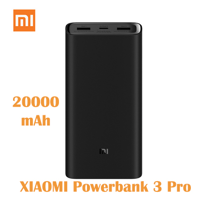 Original Xiaomi Power Bank 3 Pro 20000mAh PLM07ZM 3 USB Type-C 45W Fast Charging Portable Mi PowerBank 20000 External Battery Mi image