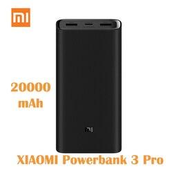 Original Xiaomi Power Bank 3 Pro 20000mAh PLM07ZM 3 USB Type-C 45W Fast Charging Portable Mi PowerBank 20000 External Battery Mi