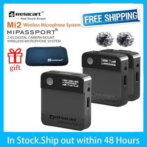 Image 1 - Relacart MI1 MI2 Lavalier Wireless Microphone System Transmitter Kit Vlog Video Recording Studio Mic for DSLR Camera Smartphone