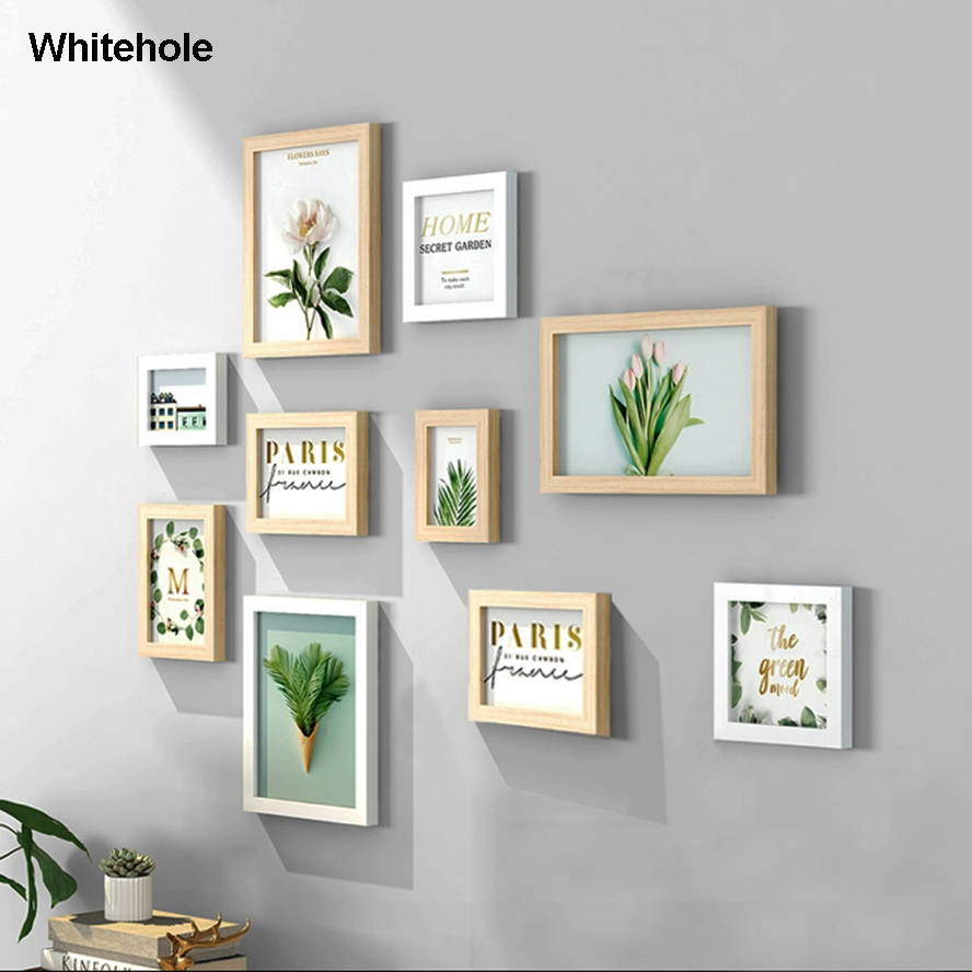 Natural Wood Picture Frame Wall Wooden Frame Photo Frame Photo Wall Hanging Poster Frames For Pictures Photos Wall,No Picture