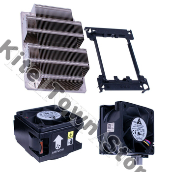 Brand New For Dell R740 R740xd R640 CPU Kit, Heatsink C6R9H 2x Fans N5T36 w/ Cage