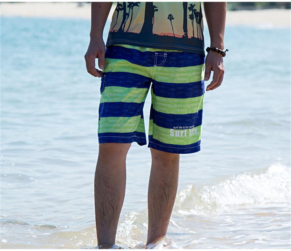 Calções masculinos com bolsos verão listrado joggers