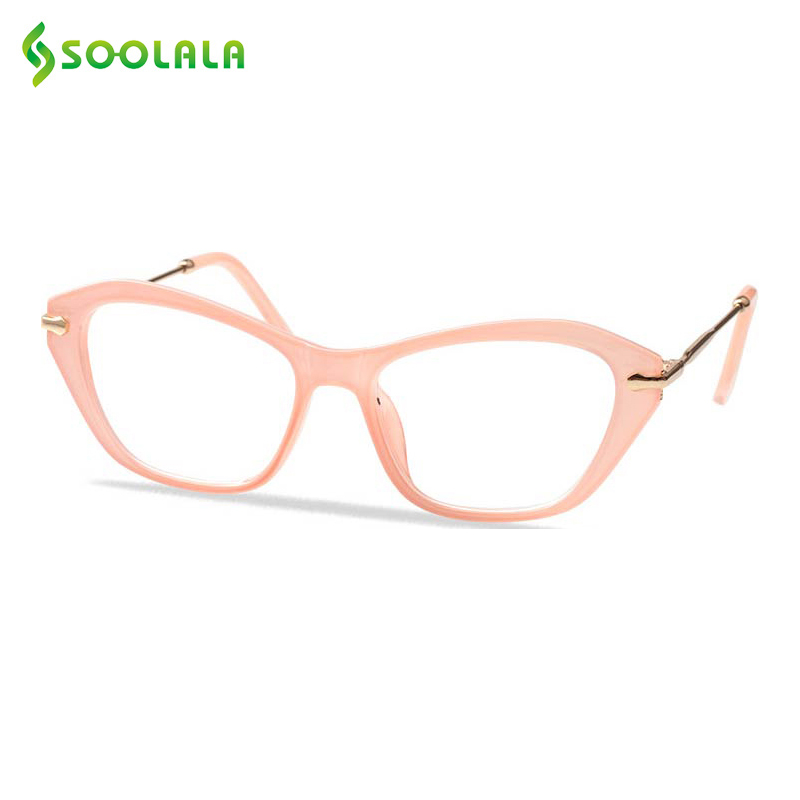 SOOLALA Cateye Reading Glasses Women Men Glasses Frame Reading Glasses +0.5 0.75 1.0 1.25 1.5 1.75 2.0 2.25 2.5 2.75 3.0 3.5 4.0