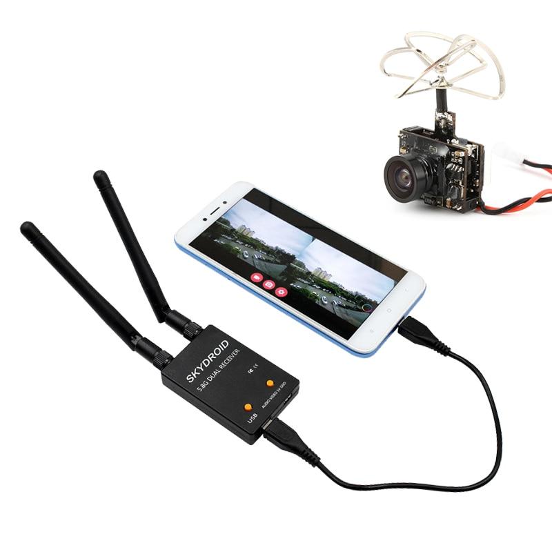 Skydroid 5.8Ghz 150CH UVC FPV Receiver + TX03 72CH 25mW/50mW/200mW 600TVL FPV Camera Transmitter For Tablet FPV System RC Drone