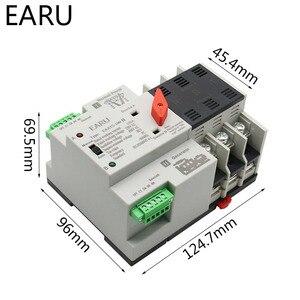Image 3 - 2/3/4P 100A 110 V/220 V Mini ATS Automatic Transfer Switch Elektrische Wahlschalter dual Power Schalter PV Solar Energie Din Schiene