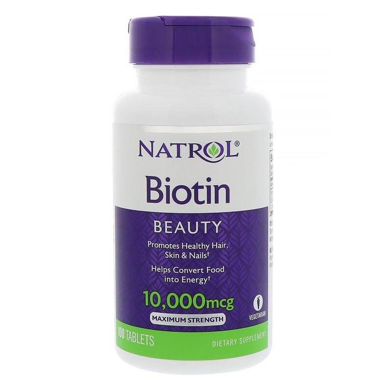 Free Shipping Biotin Promotes Healthy Hair 10,000 Mcg 100 Pcs