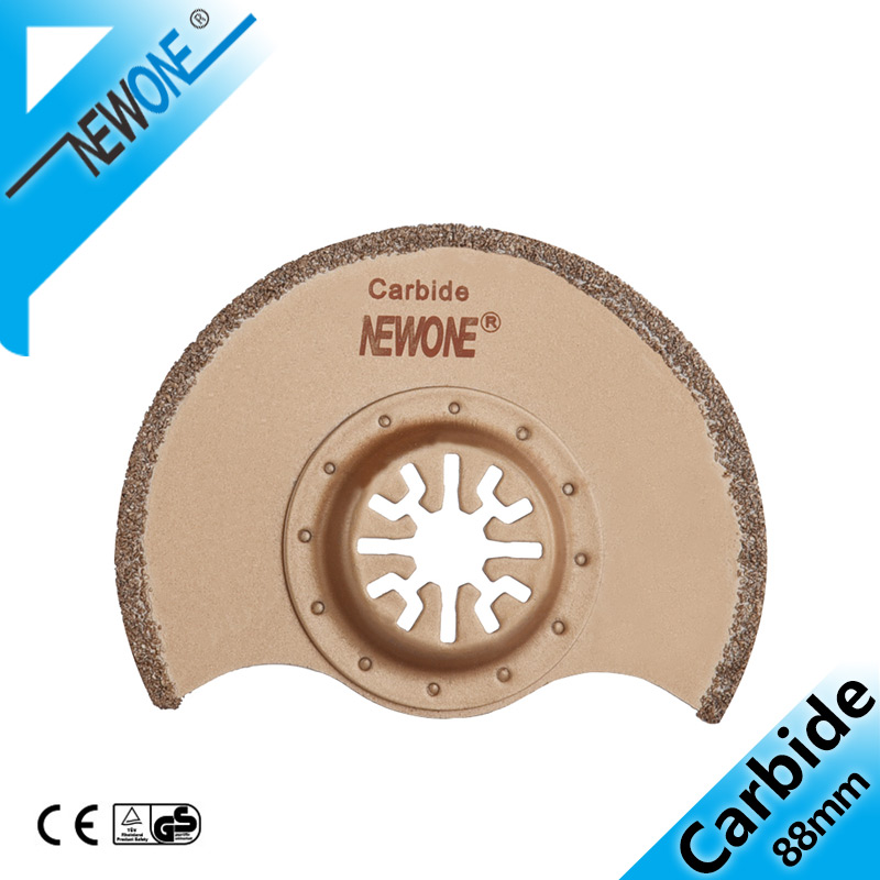 NEWONE Carbide Flush Segment Oscillating Tool Saw Blade For Polishing, Multitool Saw Blade Cut Ceramic Tile Accessories In Saw
