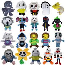 Undertale Plush Doll Toriel Papyrus Undyne Frisk Chara Asriel Lancer Zombie Doll Soft Stuffed Toy For Children Birthday Gifts