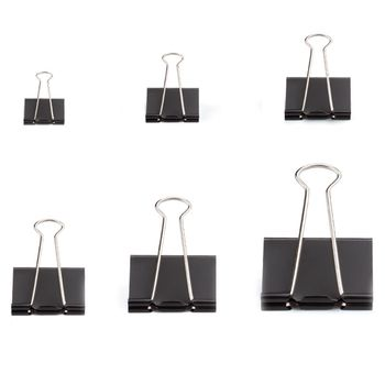 Binder Clips Paper Clamps Assorted Sizes 100 Count (Black), X Large, Large brown benjamin thompson count rumford paper