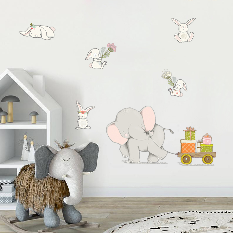 Wall Sticker Funny Rabbit Bunny Decals