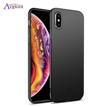 Telefon Fall für iPhone XR XS MAX X 7 8 6 6s Plus Ultra Thin Schlank Abdeckung für iPhone 11 2019 11 Pro Max Weiche Zurück Shell Coque Funda(China)