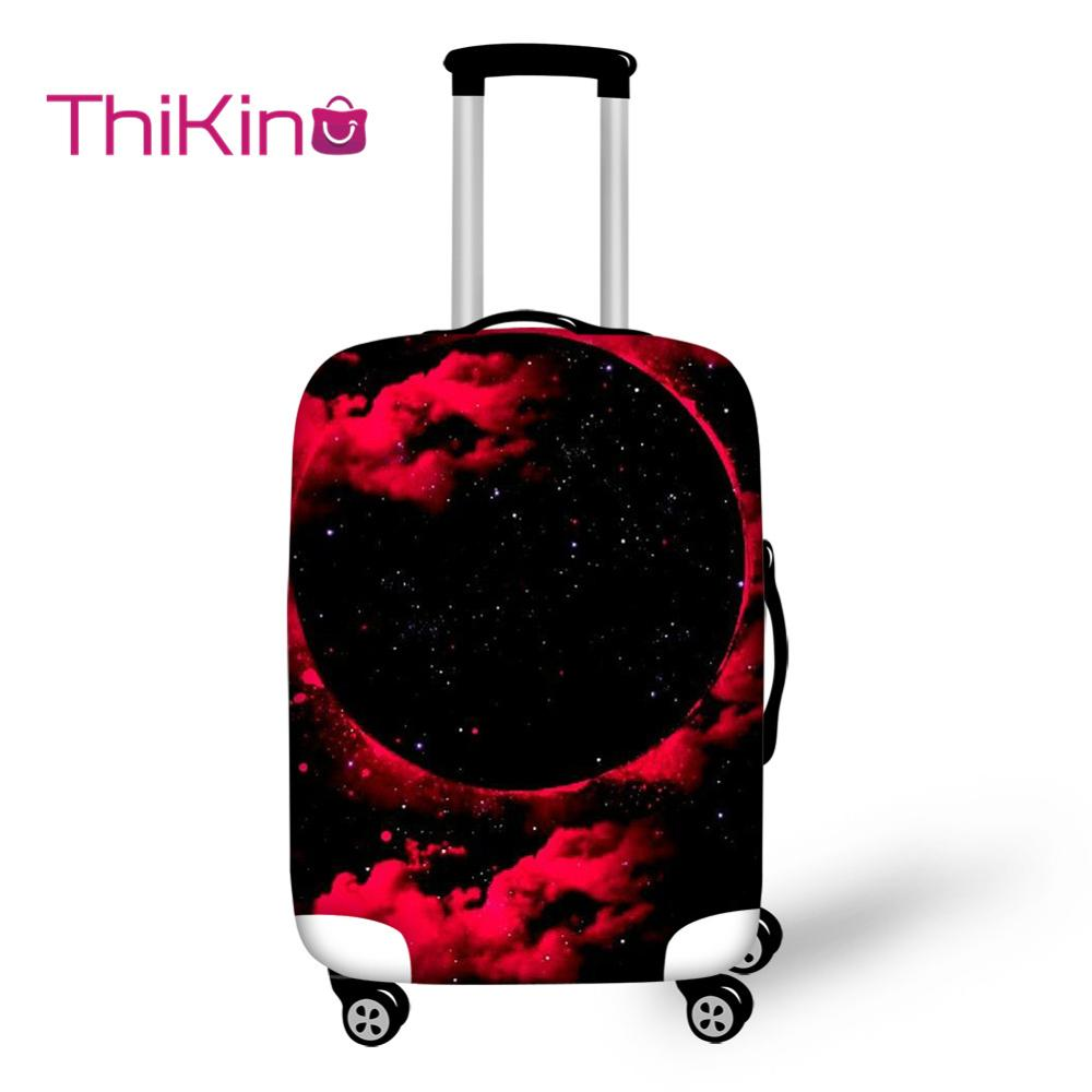 Thikin Galaxy Planet Pattern Travel Luggage Cover For Girl School Trunk Suitcase Protective Cover Travel Bag Protector