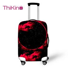 Thikin Galaxy Planet Pattern Travel Luggage Cover for Girl School Trunk Suitcase Protective Bag Protector