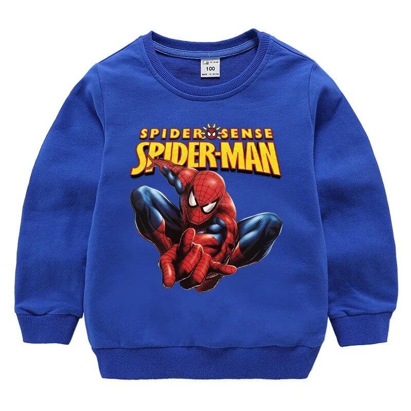 Свитшот детский с длинным рукавом и принтом Человека паука|Толстовки и кофты| | АлиЭкспресс