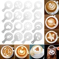 2020 новая 16 шт формочка для рисования кофе причудливая Natie печатная Модель кофе пена спрей торт трафареты сито для сахарной пудры инструмент