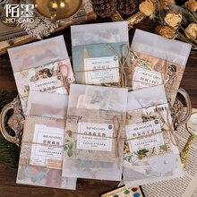 Nowa historia sztuki pamiętnik papierowa naklejka memo koperta Scrapbooking dekoracja torby DIY Craft 1 partia = 12 paczek hurtowych