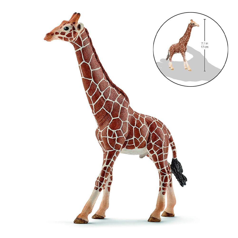 17cm Weibliche Afrika Giraffe Wild Life Figuren Spielzeug PVC Modell Action-figuren Sammlung Spielzeug Für Kinder Geschenk Tier Form