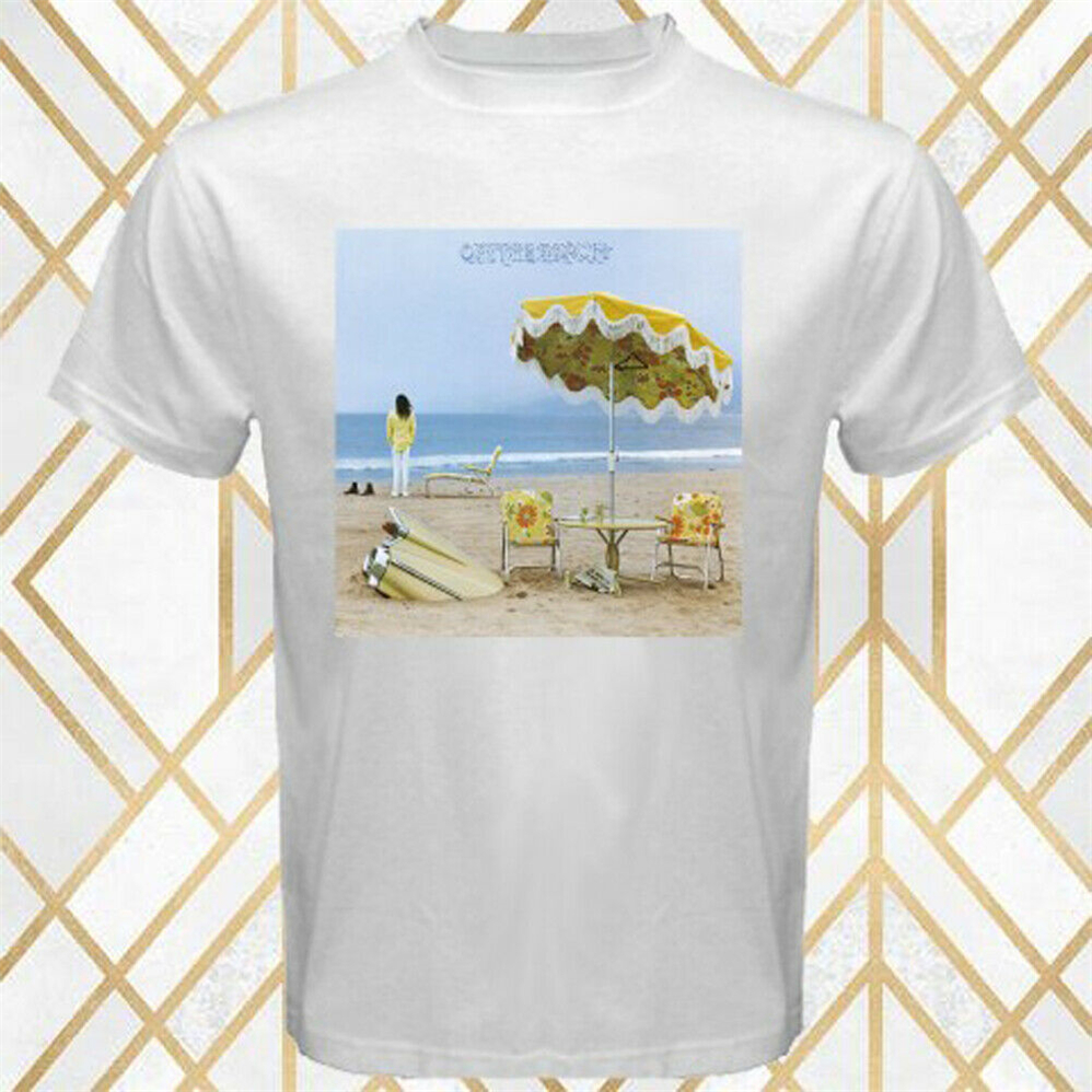 Neil Young On The Beach Album Cover Men'S White T-Shirt Size S - 3Xl Slim Fit Tee Shirt image