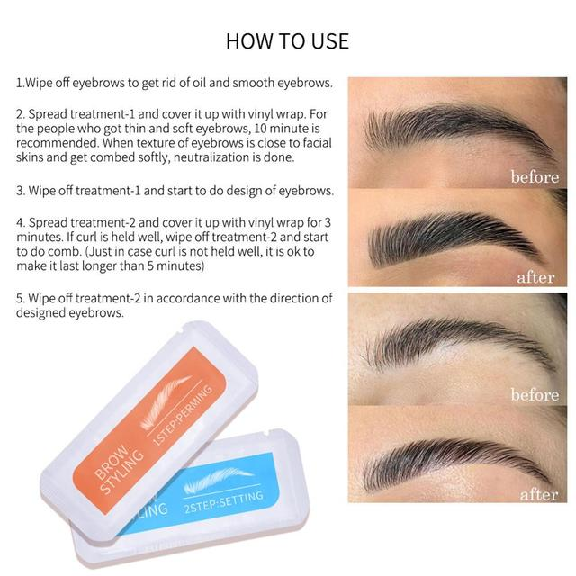 New Brow Lamination Kit Safe Brow Lift Eyebrow Lifting Protable Travel Kit Eyebrow Professional Beauty Salon Home Use 4