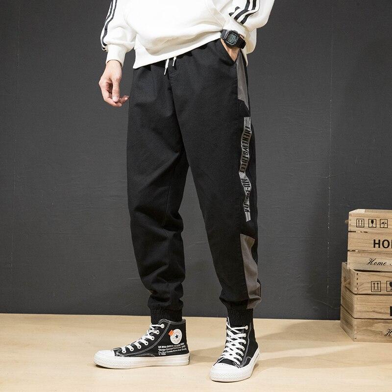 Fashion Streetwear Men Jeans Loose Fit Sweatpants Side Stripe Cargo Pants Harem Trousers Casual Hip Hop Joggers Pants Hombre